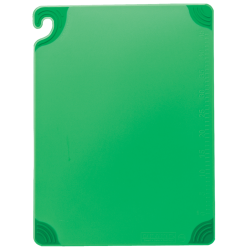 San Jamar - CBG152012GN - Saf-T-Grip 15 in x 20 in x 1/2 in Green Cutting Board image