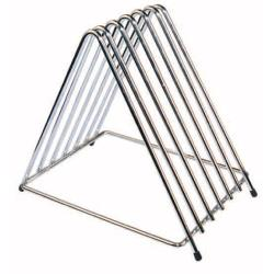 Winco - CB-6L - 6-Slot Chrome Plated Cutting Board Rack image