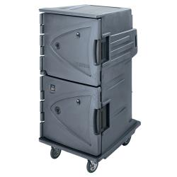 Cambro - CMBHC1826TBF191 - 64 3/8 in Granite Gray Camtherm® Hot and Cold Cart image