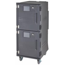 Cambro - PCUHC2SP615 - Pro Cart Ultra™ 220V Tall, Hot Top/Cold Bottom, Food Carrier w/ Security Package image