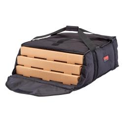 Cambro - GBP318110 - 3-Box Black GoBag® 18 in Pizza Delivery Bag image