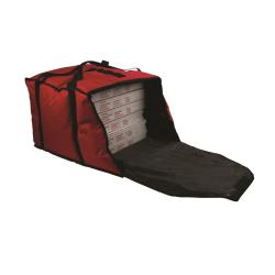 San Jamar - PB20-12 - 6-Box Red 18 in Pizza Delivery Bag image