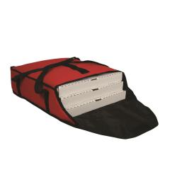 San Jamar - PB20-6 - 3-Box Red 18 in Pizza Delivery Bag image
