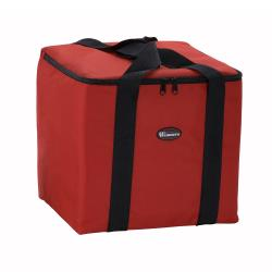 Winco - BGDV-12 - 5-Box Red 10-in Pizza Delivery Bag image