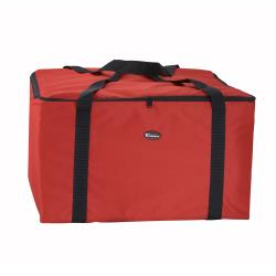 Winco - BGDV-22 - 6-Box Red 20 in Pizza Delivery Bag image