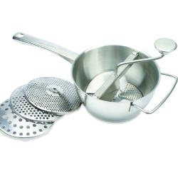 Winco - SVM-8 - 2 Qt Stainless Steel Food Mill Set image