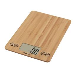 Escali Scales - SCDG15BBR - 15 lb Bamboo Arti Glass Digital Scale image