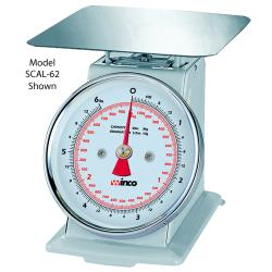 Winco - SCAL-66 - 6 Lb x 1/2 Oz Dial Type Receiving Scale image
