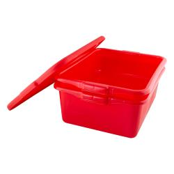 Vollrath - 1505-C02 - 20 in x 15 in x 8 in Red Traex® Color-Mate™ Food Storage Box image