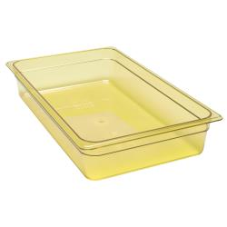 Cambro - 14HP150 - Full Size 4 in Amber H-Pan™ High Heat Food Pan image