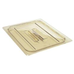 Cambro - 40HPCH150 - 1/4 Size Amber H-Pan™ Cover With Handle image