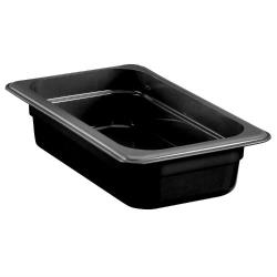 Cambro - 42HP110 - 1/4 Size 2 1/2 in Black H-Pan™ High Heat Food Pan image