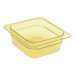 Cambro - 62HP150 - 1/6 Size 2 1/2 in Amber H-Pan™ High Heat Food Pan image