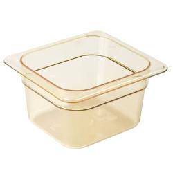 Cambro - 64HP150 - 1/6 Size 4 in Amber H-Pan™ High Heat Food Pan image