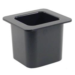Cambro - 66CF110 - 1/6 Size 6 in Black Deep ColdFest® Cold Pan image