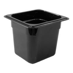 Cambro - 66CW110 - 1/6 Size 6 in Deep Black Camwear® Food Pan image