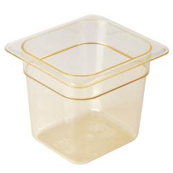 Cambro - 66HP150 - 1/6 Size 6 in Deep H-Pan™ Food Pan image