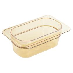 Cambro - 92HP150 - 1/9 Size 2 1/2 in Amber H-Pan™ High Heat Food Pan image