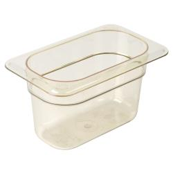 Cambro - 94HP150 - 1/9 Size 4 in Amber H-Pan™ High Heat Food Pan image