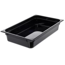 Carlisle - 10201B03 - Full Size 4 in Deep Black StorPlus™ Food Pan image