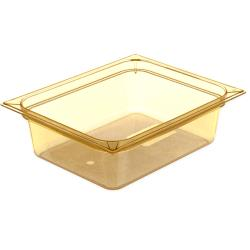 Carlisle - 10421B13 - 1/2 Size 4 in Deep Amber StorPlus™ High Heat Food Pan image