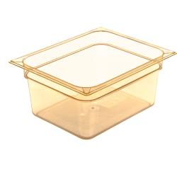 Carlisle - 10422B13 - 1/2 Size 6 in Deep Amber StorPlus™ High Heat Food Pan image