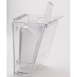 Cal-Mil - 356 - Wall Mount Clear Polycarb Scoop Holder w/32 oz Scoop image