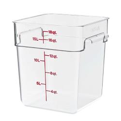 Cambro - 18SFSCW135 - 18 qt CamSquare® Food Storage Container image