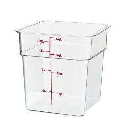 Cambro - 4SFSCW - CamSquare 4 qt Food Storage Container image