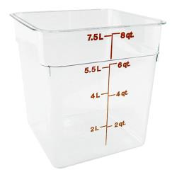 Cambro - 8SFSCW - CamSquare 8 qt Food Storage Container image