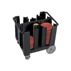 Cambro - ADCS110 - 13 in S-Series Black Adjustable Dish Caddy image