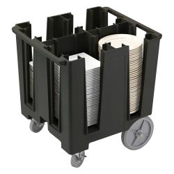 Cambro - DCS1125 - Versa Black 4-Column Dish Caddy image