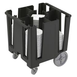 Cambro - DCS950110 - Versa Black 5-Column Dish Caddy image