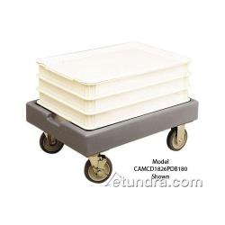 Cambro - CD1826PDB131 - Camdolly® 18 in X 26 in Brown Dough Box Dolly image