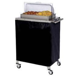 Cadco - CBC-2RT - Double Buffet Warming Cart With Clear Rolltop Lid image