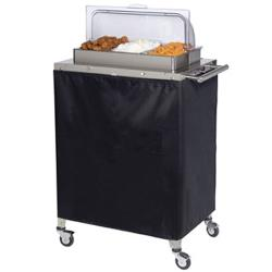 Cadco - CBC-3RT - Triple Buffet Warming Cart With Clear Rolltop Lid image