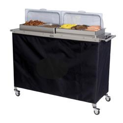 Cadco - CBC-5RT - Grand Buffet Warming Cart With Clear Rolltop Lids image