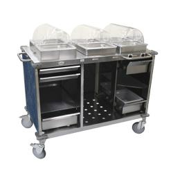 Cadco - CBC-HC-L4 - Mobile Hot And Cold Buffet Cart With Blue Laminate Skirt image