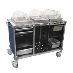Cadco - CBC-HHH-L4 - Mobile Hot Buffet Cart with Blue Laminate Skirt image