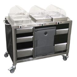 Cadco - CBC-HHH - Mobile Hot Buffet Cart image
