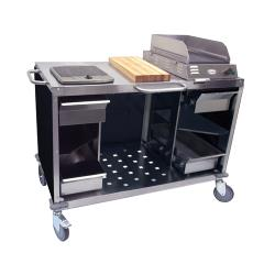 Cadco - CBC-MCC - Black Mobile Cooking Cart image