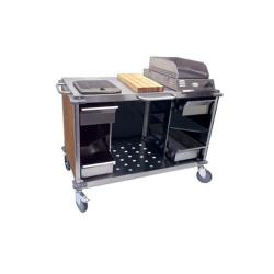 Cadco - CBC-MCC-L1 - Brown Mobile Cooking Cart image