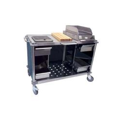 Cadco - CBC-MCC-L4 - Blue Marble Mobile Cooking Cart image