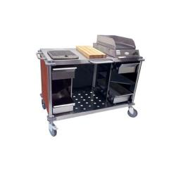 Cadco - CBC-MCC-L5 - Red Mobile Cooking Cart image