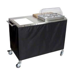 Cadco - CBC-PHR-2 - Mobile Chef Cart with Glass Ceramic Range image