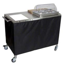 Cadco - CBC-PHR-3 - Mobile Chef Cart with Glass Ceramic Range image