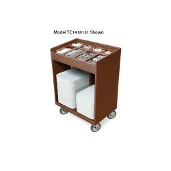 Cambro - TC1418131 - 32 in X 21 in Brown Tray and Silver Cart image