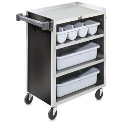Vollrath - 97180 - 27 1/2 in x 15 1/2 in Black Service Cart image