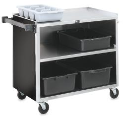 Vollrath - 97182 - 39 1/2 in x 21 in Black Service Cart image