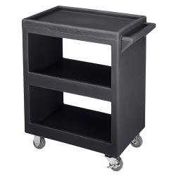 Cambro - BC2254S110 - 28 in X 16 in 3-Tier Black Service Cart image